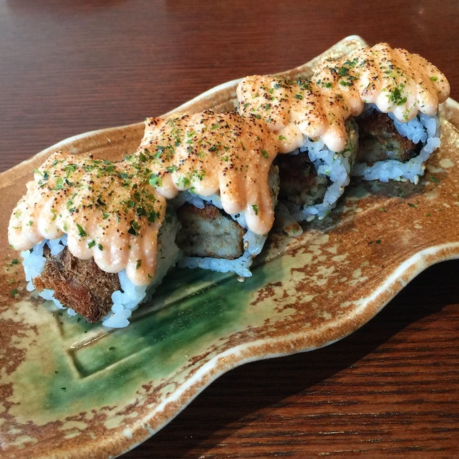 Deep Fried Oyster Sushi ($9.60)