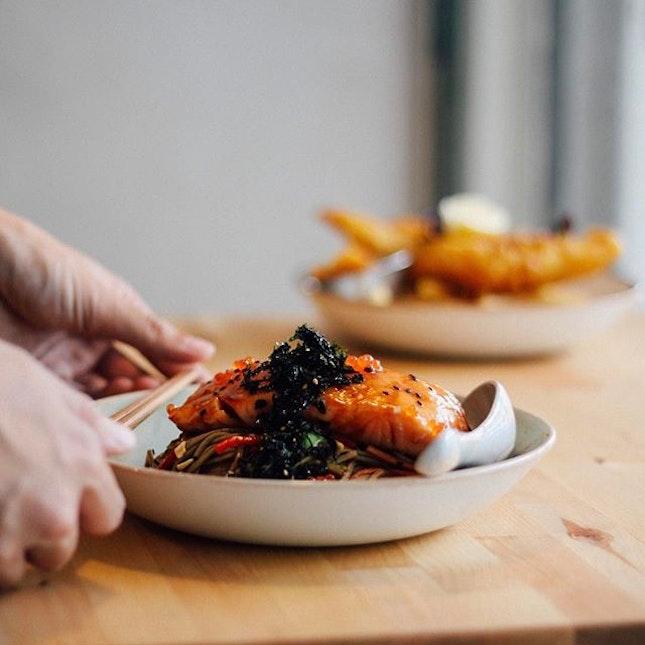 Salmon and soba - #hungryhungrymonster #oldhenkitchen #burpple