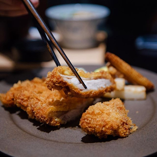Chicken Katsu - The golden, crispy crust that crumbles with each bite, that comes from good breading and great control in the frying process.