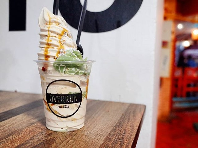 [Overrun // @overrun.sg] $6 chendol ice cream...