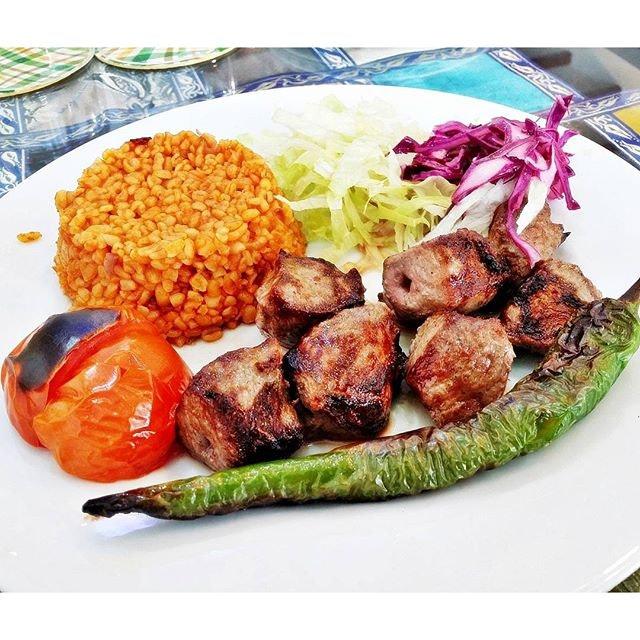 Lamb Shish With Bulgur Pilaf (SGD $19) @ Istanblue Mezze & Grill House.