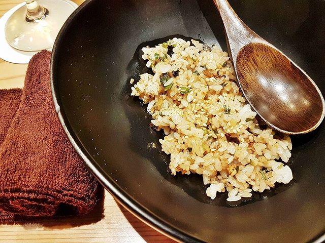 Garlic Shiso Fried Rice (SGD $18, pictured half portion) @ Osaka Kitchen Teppanyaki.