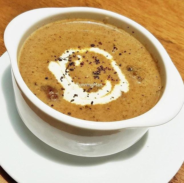 Craft Beer Mushroom Soup (SGD $9) @ Five Marbles Craft Beer Restaurant.