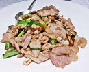 Stir-Fried Kurobuta Pork With Sliced Garlic And Scallions (Ala-Carte @ SGD $44.50 per person) @ Yan Ting.