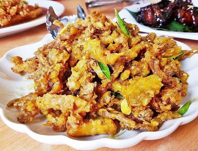 Milky Fried Abalone Mushrooms (SGD $12 / $18 / $24) @ Jin Hock Seafood Restaurant.
