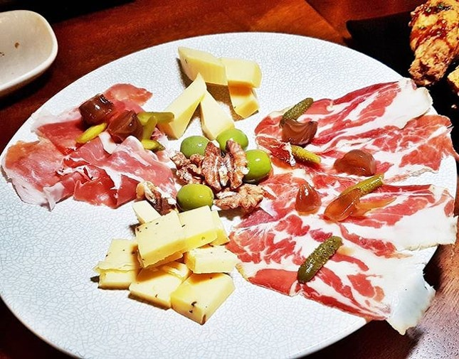 Charcuterie & Cheese Platter (SGD $48) @ Wine & Chef.