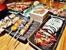 Meal Flat Lay @ Q-WA Bar & Yakitori.