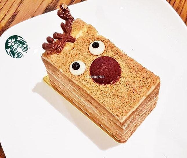 Rudolph's Honey Cake (SGD $6.90) @ Starbucks.