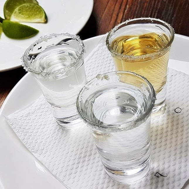 Tasting Flight Tequila & Mezcal (SGD $32) @ Lower East Side Taqueria.