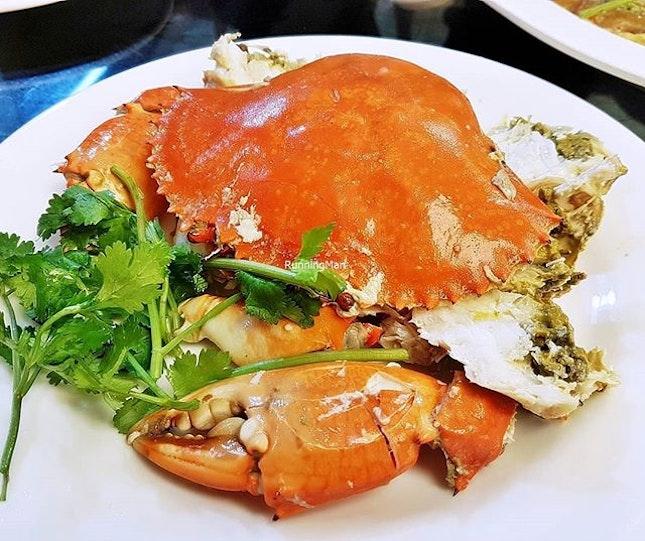 Cold Crab (SGD $50 per crab) @ Teochew Cuisine Restaurant.