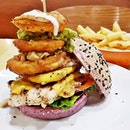 Ultimate Chicken Burger (SGD $11.90) @ The Soup Spoon Union.