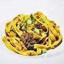 Tagliatelle With Beef Rendang (SGD $16.80, Tasting Portion) @ No Milk Bistro.