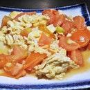 Stir-Fried Tomato Scrambled Eggs (SGD $9) @ Chong Qing Grilled Fish.