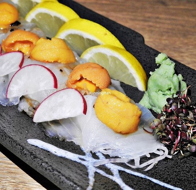 Hirame Uni Sashimi (SGD $40) @ Big Sake Bar.