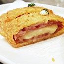 Mozzarella Katsu (SGD $10) @ Bee Cheng Hiang Grillery.