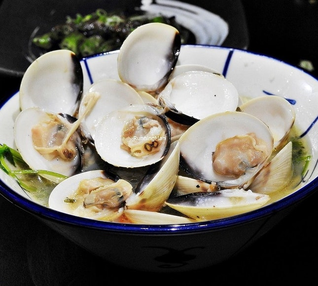 Steamed Clams In Dashi (SGD $18) @ Izy Fook.