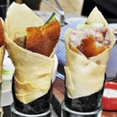 Peking Duck Salad Hand Roll (SGD $4.80 per piece) @ Kai Duck.