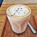 Lavender Latte (SGD $5.50) @ The Bravery Cafe.