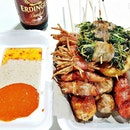 Barbecued Skewers (SGD $11) @ Wang BBQ And Grill.