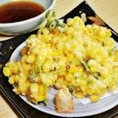 Toumorokoshi Kakiage (SGD $15) @ Kyoaji Dining.