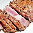 Beef Steak Australian Angus Grain-Fed Ribeye (SGD $44.90) @ Cavemen Restaurant & Bar.