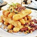 Fried Yam With Salt And Pepper (SGD $12.80) @ Shang Social.
