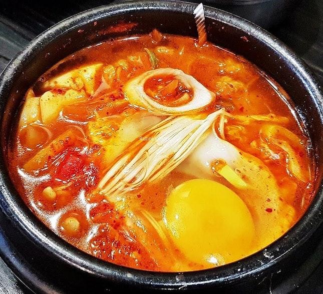 Soondubu Jjigae / Silken Tofu Stew (SGD $12) @ Three Meals A Day.
