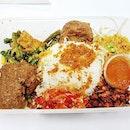 Nasi Ambeng Solo Beef Rendang (SGD $10.80) @ Coba Coba.