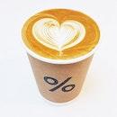 Latte (SGD $7) @ % Arabica.