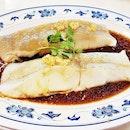 Steamed Black Halibut Fillet Hong Kong Style (SGD $26) @ New Ubin Seafood.