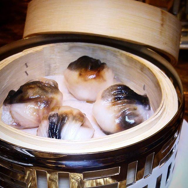 Steamed Prawn Dumpling with Black Garlic $8.