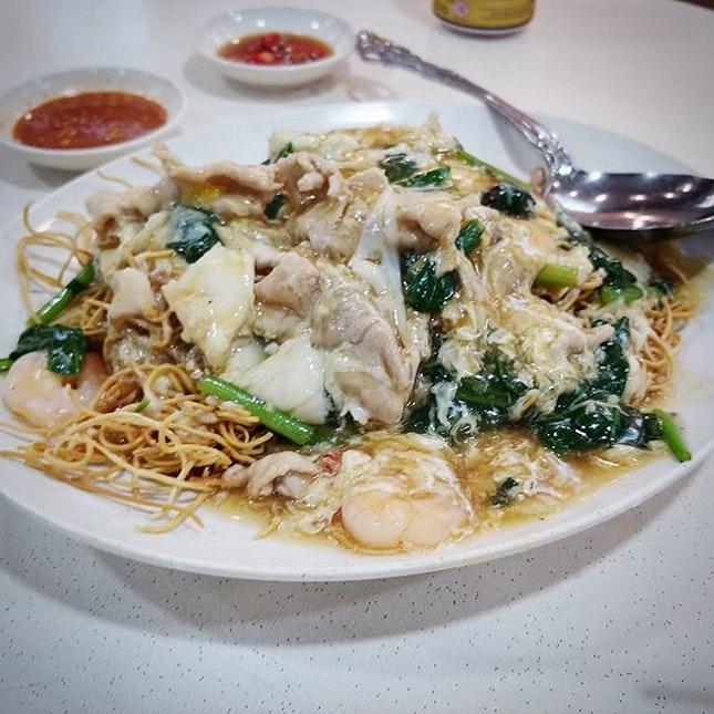 Crispy Noodle from Two Chefs Eating Place.
