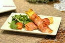 Spargel Im Speckmantel- Bacon-wrapped White Asparagus ($9).