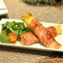 Spargel Im Speckmantel - Bacon-wrapped White Asparagus ($9).