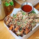 Okonomiyaki Sweet Potato Fries ($13, $18) got my two thumbs up at @supplydemandorchard .