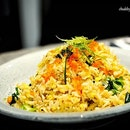 Crab Meat Fried Rice, Tobiko ($14).