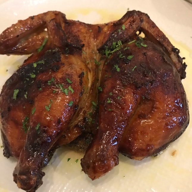 Locally-bred Spatchcock ($28)