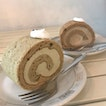 Matcha and Houjicha Swiss Rolls ($6.90 each)