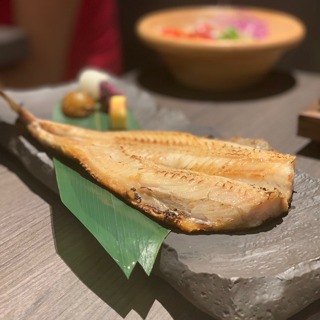 Charcoal Grilled Dried Arms Mackerel Set (14.90)