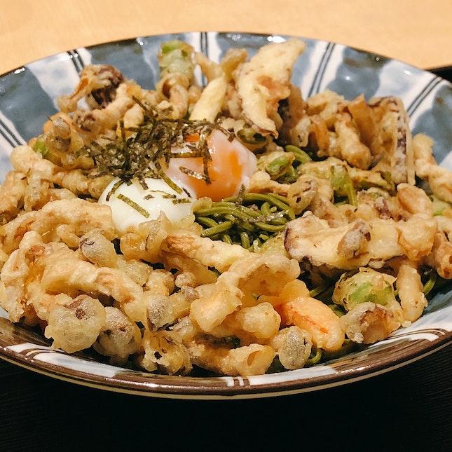 Tenchirashi Matcha Soba