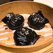 Steamed Crystal Shrimp Dumpling w Chinese Olive & Squid Ink | $10 for 3