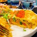 Sideways Omelette ($25++)