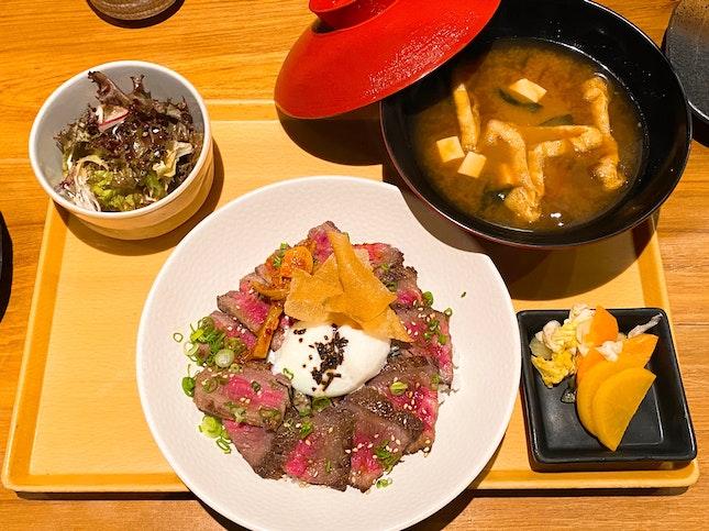 Gyu Set Lunch   $35++