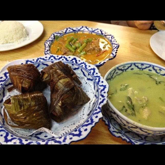 Green Curry, Pandan Chicken, Curry Beef