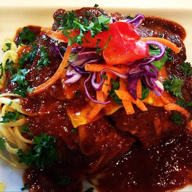 Hot tomato chicken pasta 🍝🍝 #foodporn #instafood #instadaily #instapic #igsg #igers