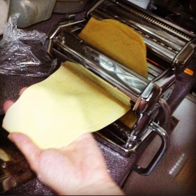 fresh rolled pasta dough💜💜💜