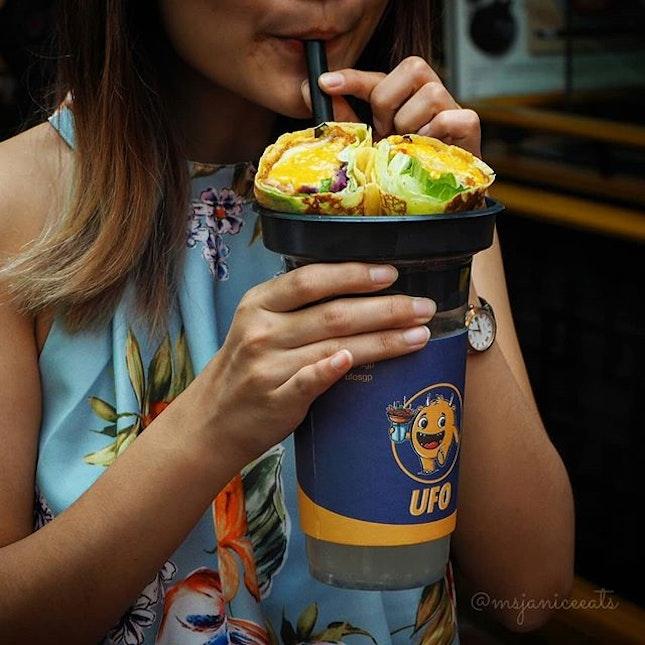 🌟 Salted Egg Chicken Crepe (S$5.30) | Yuzu Plum Soda (Medium S$3.00)(Large S$4.50) 🌟  Extra!