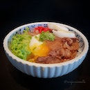 🌟 Shokuji | Owanmono | Ice Cream 🌟  1) Shokuji ~ Wagyu No Takigomi Gohan, Oshinko, Onsen Tamago Tsuki This bowl of special rice served with tender strips of well-braised Japanese beef, crunchy pickles and a perfect soft boiled egg is really oishii!