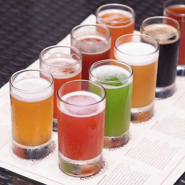 ⭐ Beerfest Brewery & Restaurant ~ Beer Tasting Set (S$28) ⭐  Give in to 𝗕𝗘𝗘𝗥 pressure and try all of Beerfest's freshly brewed craft beers at one go!