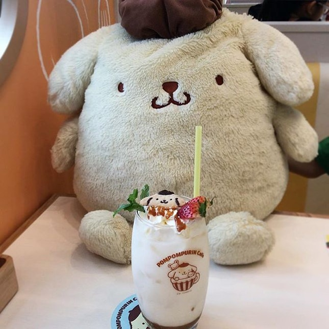 Pompompurin Cookie and Cream Latte!!!